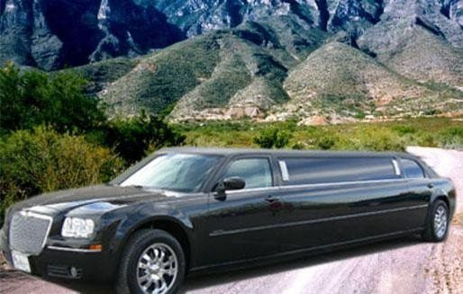 8-passenger black Chrysler 300