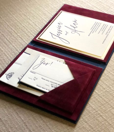 velvet lined wedding invitations by lucky invitations 51 594709