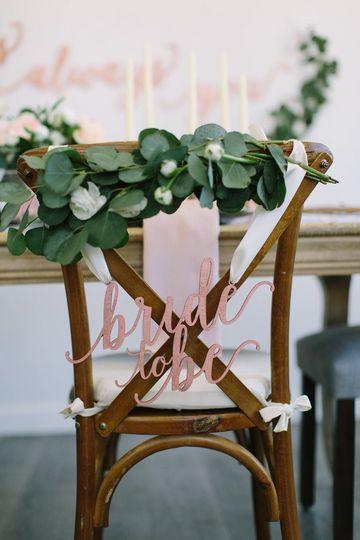 Decorative chair signage