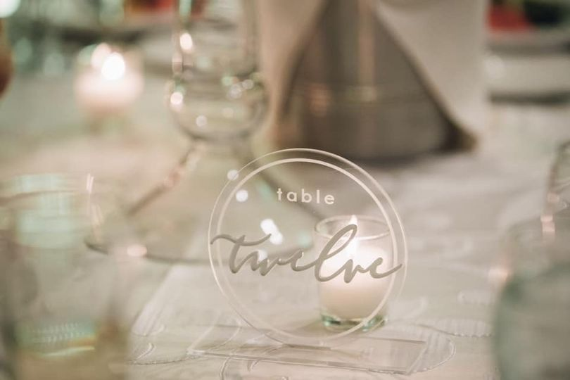 Acrylic Table number