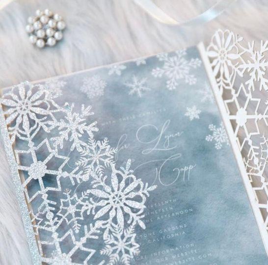 Laser cut snowflake design