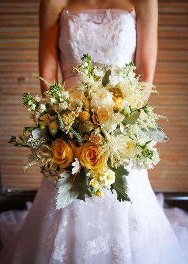 yellow gray green bouquet