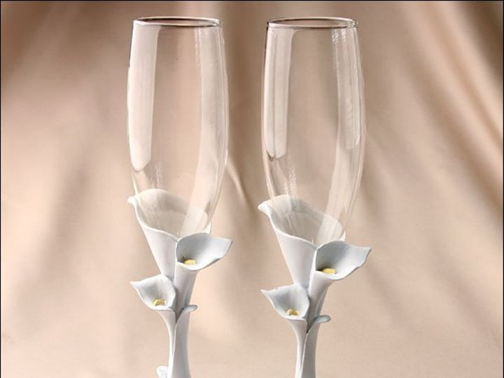 Tmx 1264368450352 Toastingglassesgracefulcallalily Deshler wedding favor
