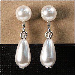 Tmx 1264517532465 Pearlballteardropearringswhite Deshler wedding favor