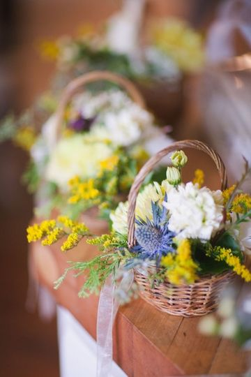 Baskets of flowers