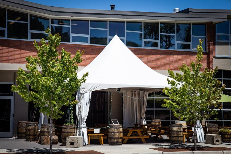 Event tent and private patio