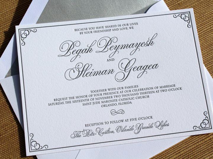 Tmx 1507308069980 Mmp Geagea Invitation Winter Park, FL wedding invitation
