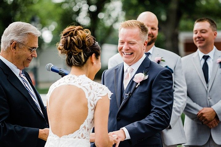 The joy of exchanging vows