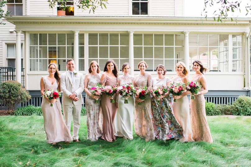 The laddies with bouquets