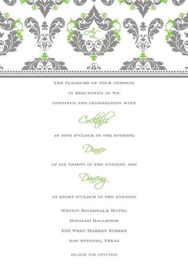 Reception insert design