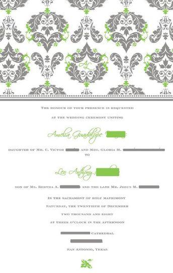 Main invitation insert design