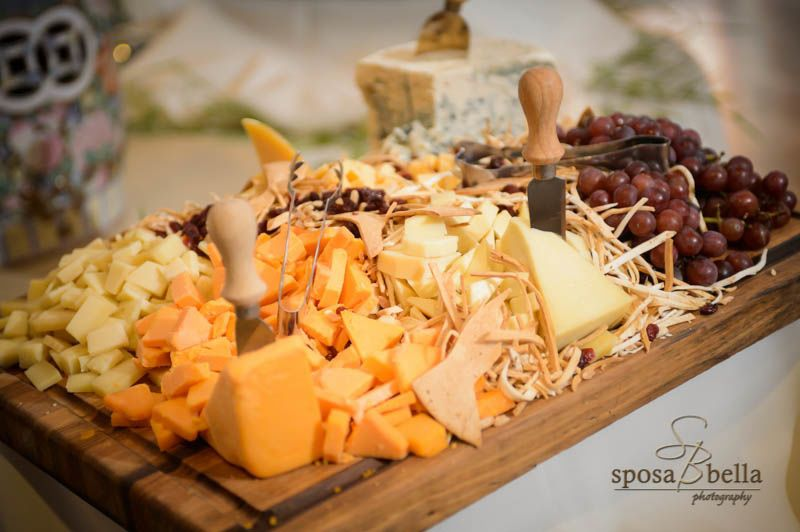 Cheese and fruit board