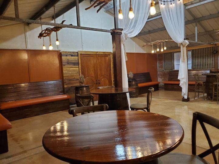 Custom benches & barrel tables