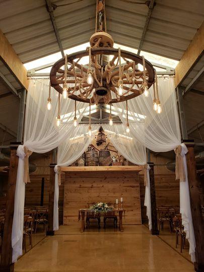 Custom wagon wheel chandelier