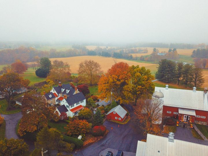 Aerial view during autumn