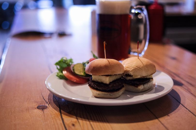 Beef Sliders with Fried Cheese