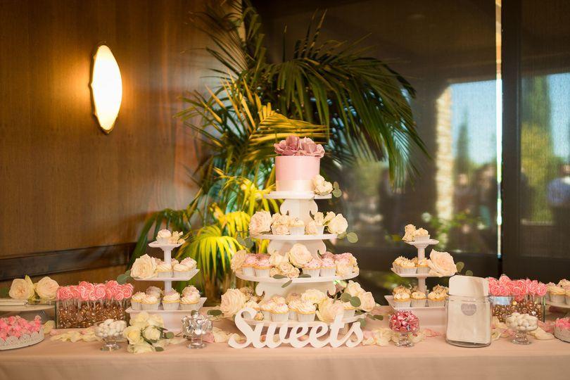 Wedding  cake and treats