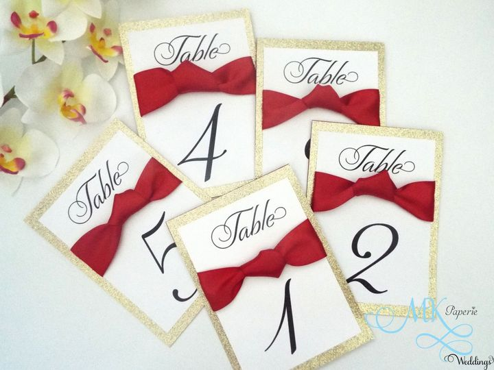 mk paperie bridal shower table numbers