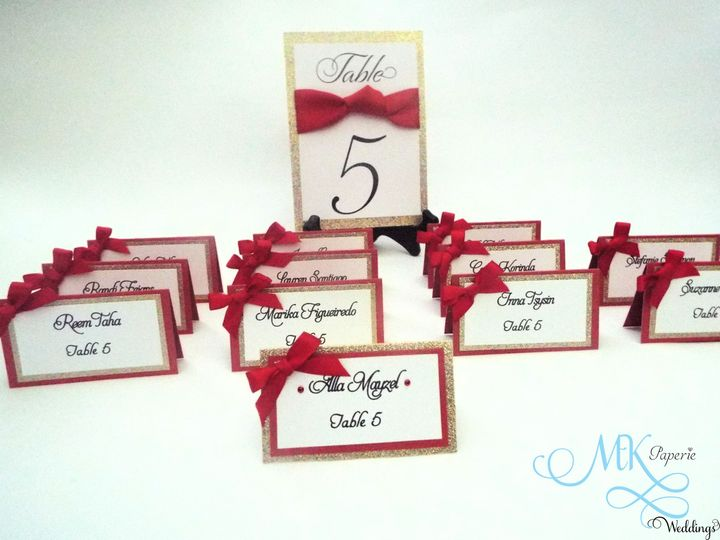 mk paperie bridal shower place cards