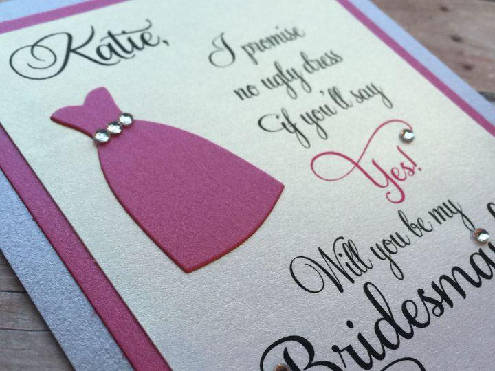 Tmx 1435197275512 Mk Paperie   Bridesmaid Dress Dover wedding invitation