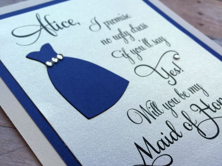 Tmx 1435197310807 Mk Paperie   Maid Of Honor Dress Dover wedding invitation