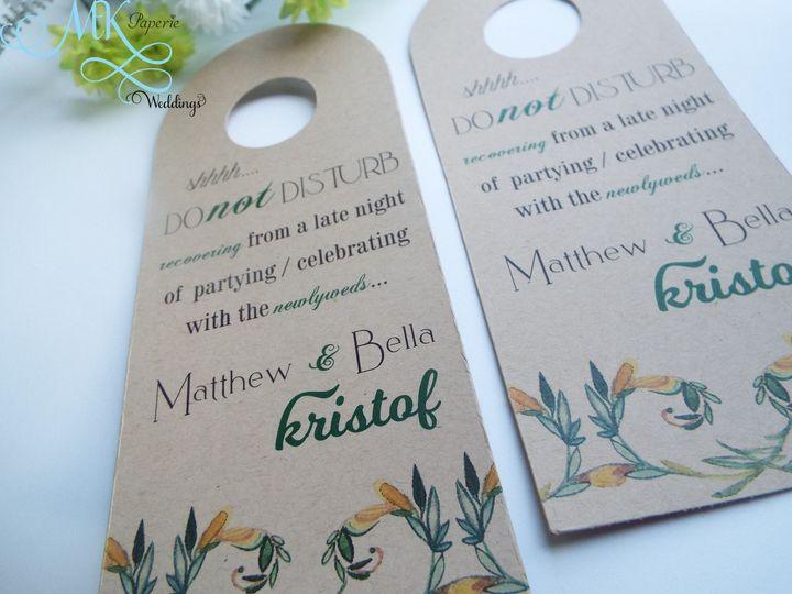 Tmx 1437716053511 Mk Paperie   Door Hanger   Kraft Dover wedding invitation