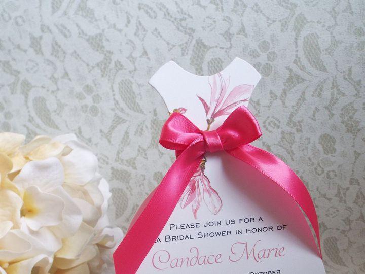 Tmx 1439431912574 Mk Paperie   Bridal Shower Dress Pink Flower Dover wedding invitation