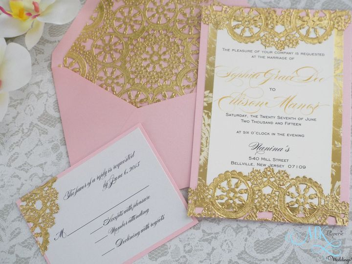 Tmx 1439580477239 Mk Paperie   Vintage Gold Doilies Dover wedding invitation
