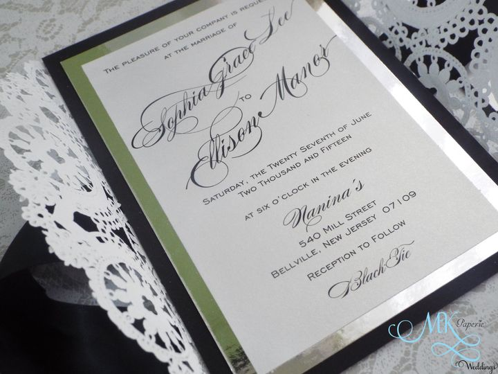 Tmx 1439580730458 Mk Paperie   Vintage Silver Doilies Dover wedding invitation