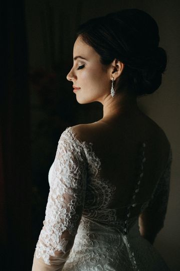 Elegant side portrait