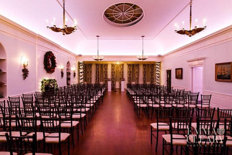 The Marine Room at India House set for Ceremony of 250