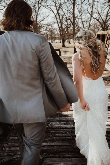 Walking off together (Erica and Dane)