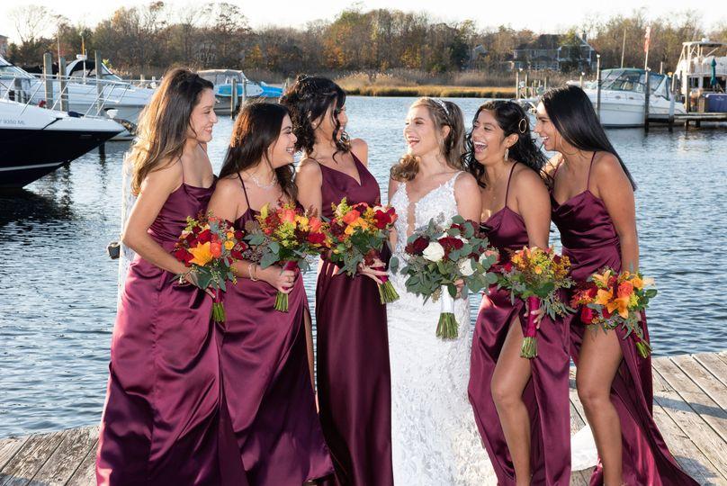 Bridal party at dock