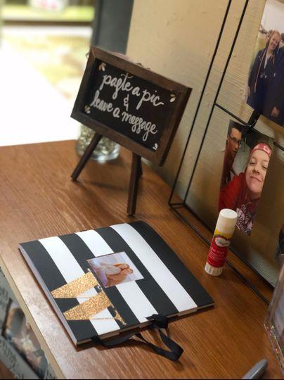 A scrapbook for photo memories