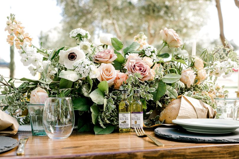Olive Mill Tablescape