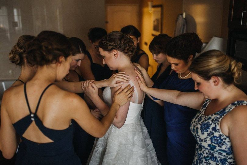 Prayers over the bride