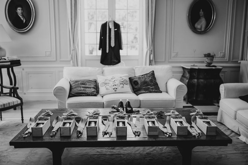 Groomsman's room pre-wedding
