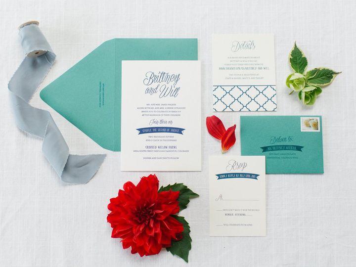 Tmx 1472142168925 Britwill Kerinsa Littleton, CO wedding invitation