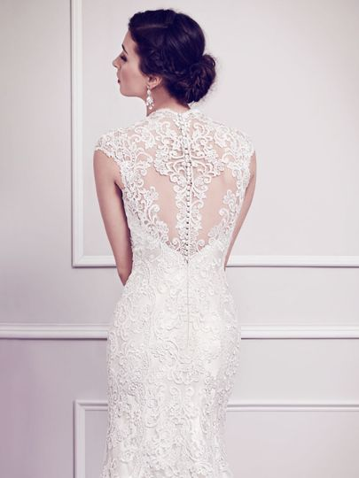 Kenneth Winston Style#1584 -  The back consists of a sheer illusion detailed with Venice lace and...