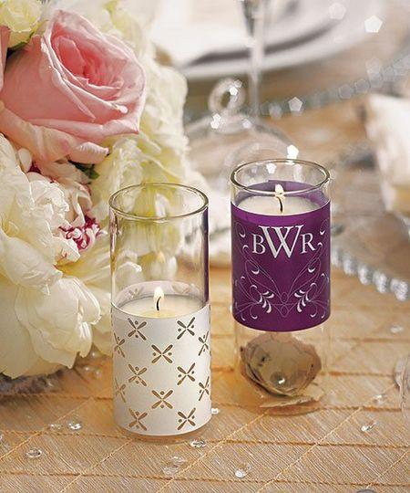 Blown Glass Miniature Tealight Candle Luminaries & Wrap