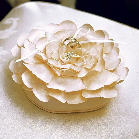 Sensational Floral Ring Pillow - White or Ivory