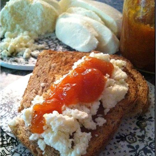Spoon's home made mozzarella, cheese spread and tart kumquat and tangerine jam