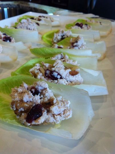 Elegant and tasty as an appetiser or dinner finger food, these unique chicken salads are served in...