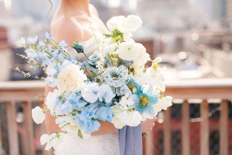 Classic blue florals