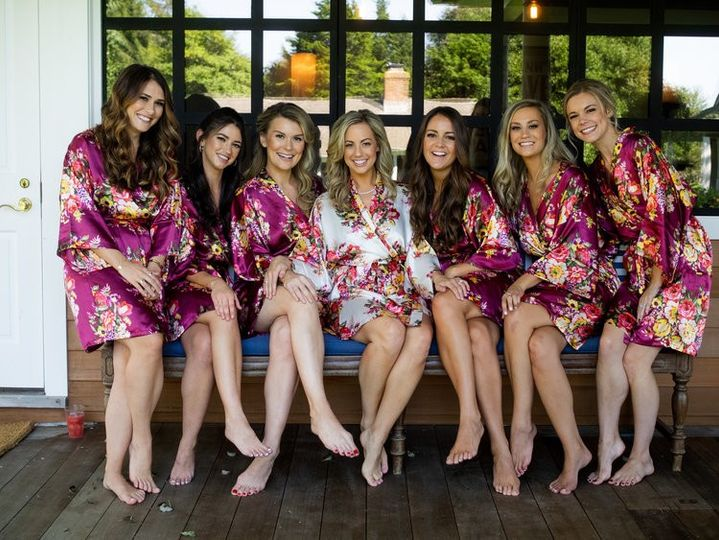 A beautiful bridal party