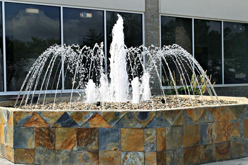 Fountain at entryway