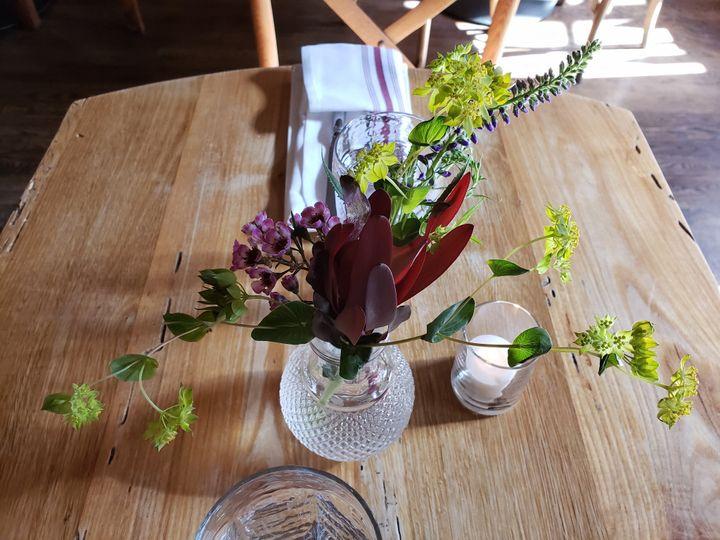 Bud Vase on Dining Room Table