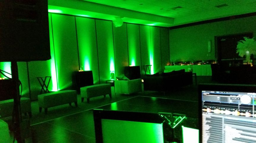 Uplighting can transform the color of the room.
