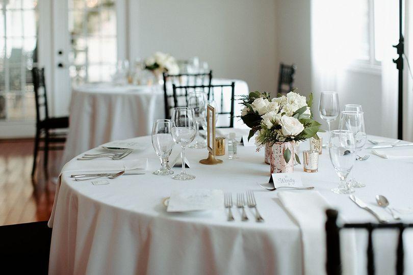 Social Distance Table setting