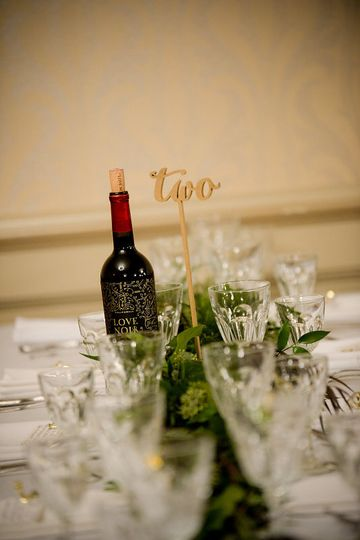 Table number | Photo by: Digital Galleria Designs